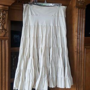 Pleated full skirt